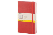 Moleskine Classic Notebook, Large, Squared, Coral Orange, Hard Cover