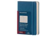 Moleskine 2017 Daily Planner, 12m, Pocket, Steel Blue, Hard Cover