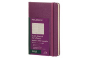 Moleskine 2017 Weekly Notebook, 12m, Pocket, Grape Violet, Hard Cover