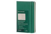 Moleskine 2017 Weekly Notebook, 12m, Pocket, Malachite Green, Hard Cover