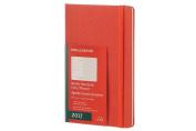 Moleskine 2017 Weekly Notebook, 12m, Large, Coral Orange, Hard Cover