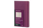 Moleskine 2017 Weekly Notebook, 12m, Large, Grape Violet, Hard Cover