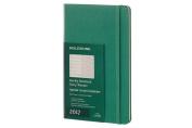 Moleskine Weekly Notebook, 12m, Large, Malachite Green, Hardcover