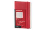 Moleskine 2017 Weekly Notebook, 12m, Pocket, Scarlet Red, Soft Cover