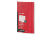 Moleskine Weekly Notebook, 18m, Large, Scarlet Red, Soft Cover