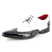 Mens Black white Patent Leather Look Pointed Toe winkle pickers Dress Dinner Suit Brogues Shoes Sizes 6 7 8 9 10 11 12