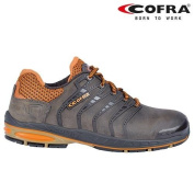 Cofra Safety Shoes Strikeout White 002 New Jogging S3 SRC, Brown, 19030-002