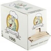Thali Outlet - 1000 x Wooden Chip Forks 85mm Biodegradable Takeaway Fish & Chip Shop Style - 1 Box