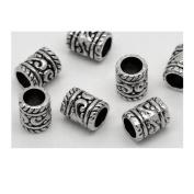 Dreadz Silver Tube Hair Beads x 3