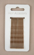 Kirby Hair Grips - Brown - Pack of 15 - 65mm