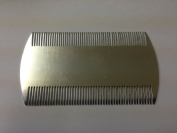 Deluxe Chrome Effect Metal Fine Toothed Nit Combs for Head Lice Dectection Comb with Holder (also ideal for Pet Flea) its removes Nits, Lice and Fleas and eggs i.e. Grooming Hair Comb