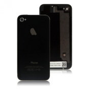Black Replacement Back Glass Case Cover for iPhone 4S - Free Screwdriver