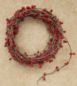 Red Single Ply Pip Berry Garland 5.5m Country Primitive Floral Craft Décor