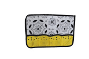 DK Leigh Toy Bag, Black White & Yellow NEW