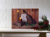 Ohio Wholesale-Kennedy 66022 Canvas-C-O Holy Night with Timer, Radiance Lighted - 12 x 16