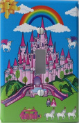 Pink Castle Light Switch Plate Covers / Single Toggle / Castle Wall Decor
