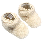 Sunward Toddler Baby Girls Soft Sole Crib Winter Warm Button Shoes Boots Flats (11CM