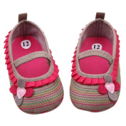 Sunward Lovely Baby Girl Soft Sole Anti-slip Learn to Walk Shoes Infant Moccasin (13CM