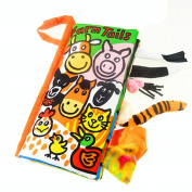 Creazy® Animal Tails Cloth book Baby Toy Cloth Development Books