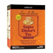 Natrol Laci Le Beau Super Dieters Tea, Natural Apricot 60 Bags