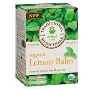 Traditional Medicinals Teas Organic Lemon Balm Tea, 16 BAGS
