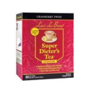 Natrol Laci Le Beau Super Dieters Tea, Cranberry Twist 60 Bags