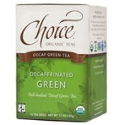 2 Packs of Choice Organic Teas Decaffeinated Green Tea - Case Of 6 - 16 Bags