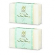 Tea Tree Therapy Myrtle Natural Bar Soap, Lemon Exfoliating 100ml