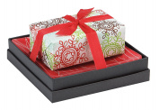 Mudlark Handcrafted Soap Bar and Dish Gift Set, Classic Almond/Let It Snow