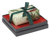 Mudlark Handcrafted Soap Bar and Dish Gift Set, Classic Almond/Imperial Carol