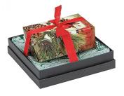 Mudlark Handcrafted Soap Bar and Dish Gift Set, Classic Almond/Winter Fir