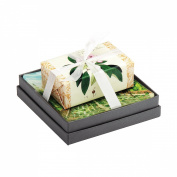 Mudlark Handcrafted Soap Bar and Dish Gift Set, Classic Almond/Laurel
