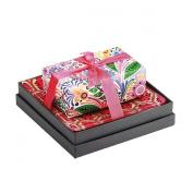 Mudlark Handcrafted Soap Bar and Dish Gift Set, Malay/Morning Glories