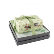Mudlark Handcrafted Soap Bar and Dish Gift Set, Sweet Lime/Woodland Hare