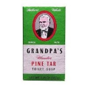 Grandpa's Brands Company Pine Tar Soap, Bath Size 130ml