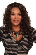 KIMORA-V (Vivica A. Fox) - Synthetic Lace Front Wig in OFF BLACK by Vivica A. Fox