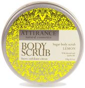 Attirance - Sugar Body Scrub - Lemon - 260ml - All Natural with Lemon Essential Oil, Jojoba Oil, Mango Butter & Almond Oil