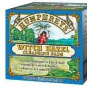 Humphreys Homoeopathic Remedies Witch Hazel Pads, 60 ct