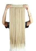Sexybaby Extension Hairpieces Clip in 140G High Synthetic Fibre 70cm Straight with 5 Clips
