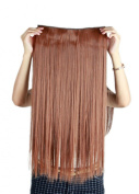 Sexybaby Hairpieces Extensions Clip in 140G High Synthetic Fibre 70cm Straight with 5 Clips