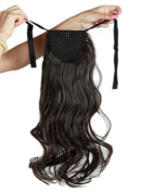Binding Tie up Synthetic Ponytail Heat Resistant One Piece Drawstring Pony Tail Long Wavy Curly Soft Silky for Women Lady Girls 46cm / 46cm