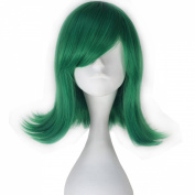 Miss U Hair Movie Disgust Synthetic Short Wavy Green Anime Cosplay Full Wig