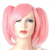 Coolsky Wig Puella Magi Madoka Magica Medium Pink Cosplay wigs Costume Coolsky Wig