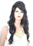Coolsky Wig Charming Long Black Curly Woman Hair Cosplay Wigs Costume Wigs