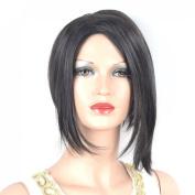 Coolsky Wig Charming Medium Black Woman Hair Cosplay Wigs Costume Wigs