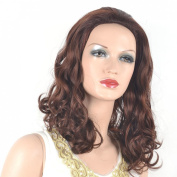 Coolsky Wig Long Curly Dark Brown Woman Cosplay Coolsky Wig Costume Wigs