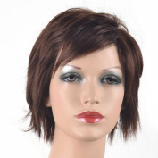 Coolsky Wig Short Dark Brown Woman Wigs