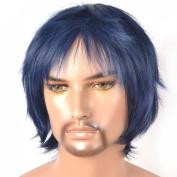 Coolsky Wig Short Men Dark Bule Cosplay Coolsky Wig Costume Wigs