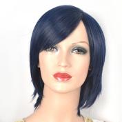 Coolsky Wig Short Woman Dark Bule Cosplay Coolsky Wig Costume Wigs