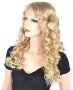 Coolsky Wig Long Cute Cruly Blond Woman Hair For Party or Daily Life